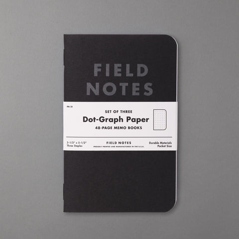 FIELD NOTES - PITCH BLACK DOT GRAPH EDITION 3-PACK