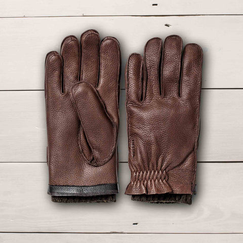 HESTRA GLOVES GAGNEF ELK LEATHER - CHESNUT