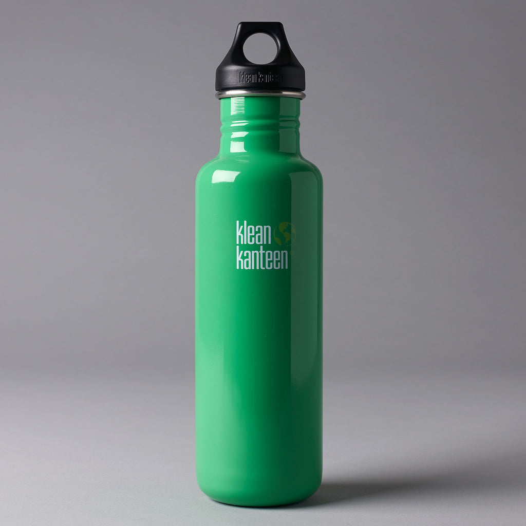 KLEAN KANTEEN CLASSIC 800ML WATER BOTTLE - GREEN
