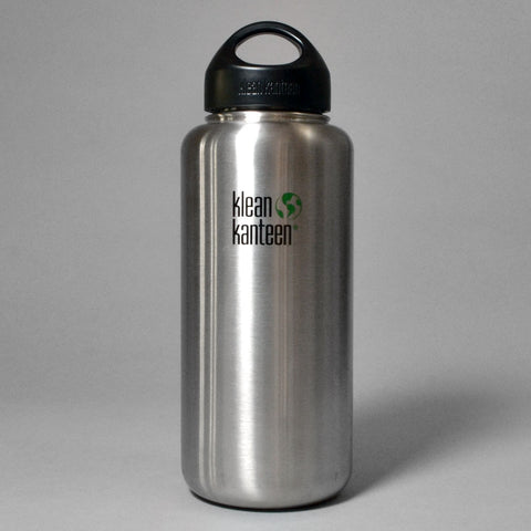 KLEAN KANTEEN WIDE MOUTH 1182ML WATER BOTTLE - BRUSHED STAINLESS