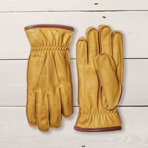 HESTRA GLOVES ORNBERG ELK LEATHER - YELLOW