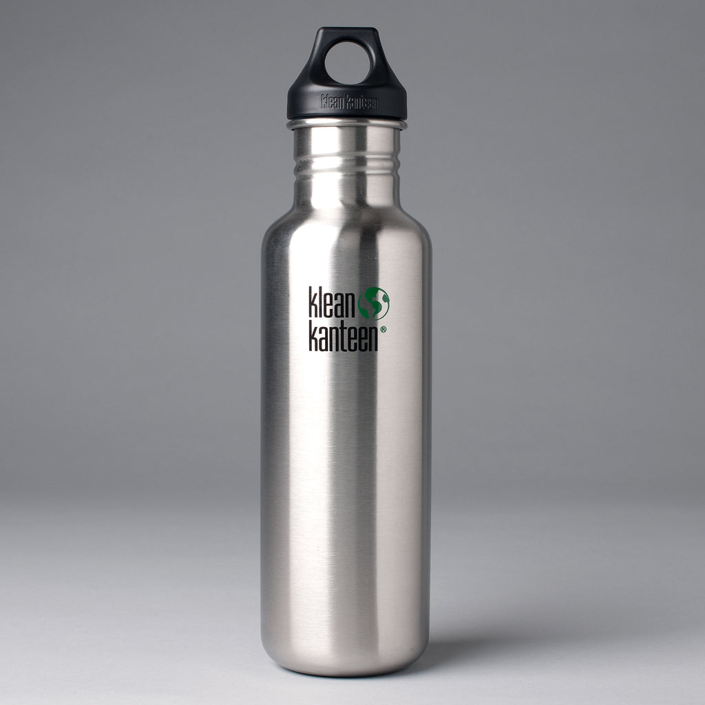 KLEAN KANTEEN CLASSIC 800ML WATER BOTTLE - BRUSHED STAINLESS