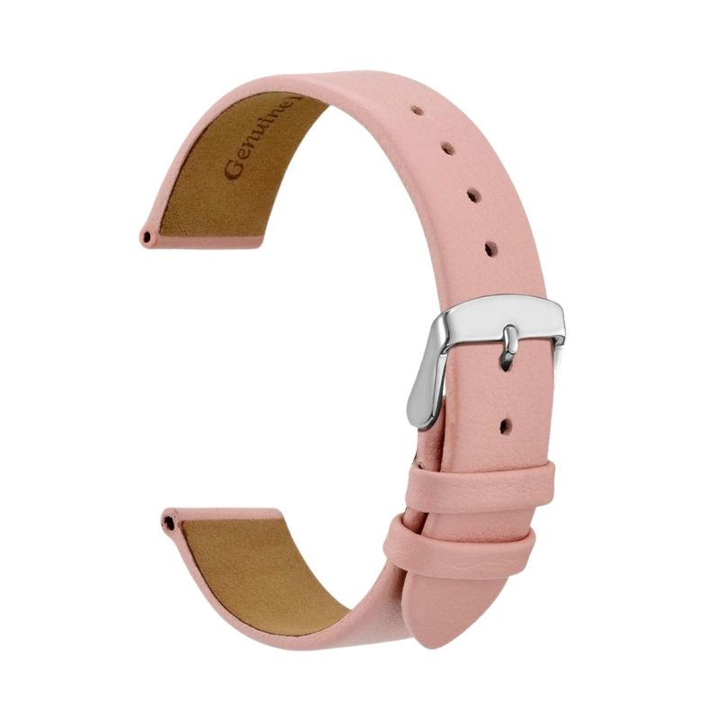 Light Pink-Silver Leather Strap