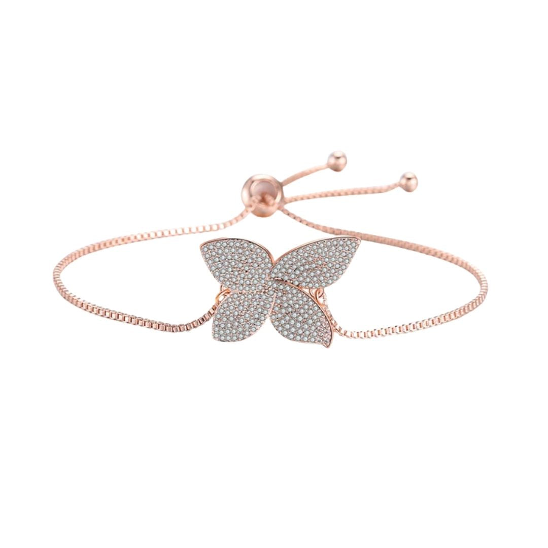 Schmetterling-Motiv-Armband Rose Gold