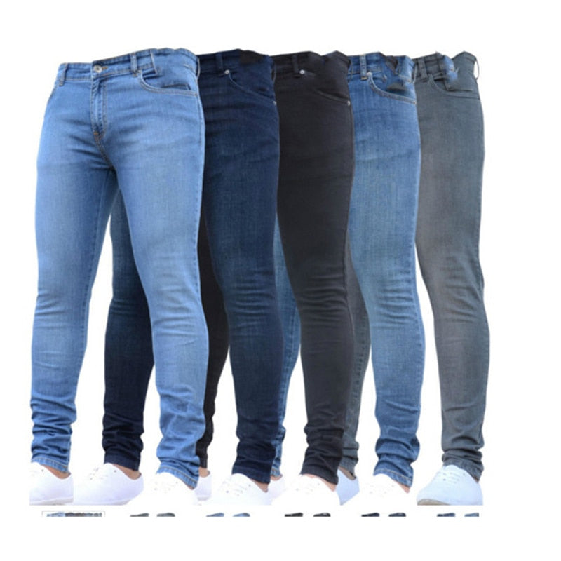 jeans men 2021 skinny mens sexy fashion stretch denim trousers spring mix commerce