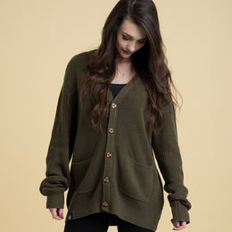 Color: Olive Green.