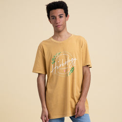 Style: Creator Vintage T Shirt, Color: Ochre.