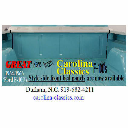 Buy Ford F100 and F250 Truck Style Side Front Bed Panels by Carolina Classics