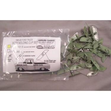 Molding Clip Kits for Short Bed Trucks 1965, 1966-Carolina Classics F100 Ford Truck Parts 1948-1979