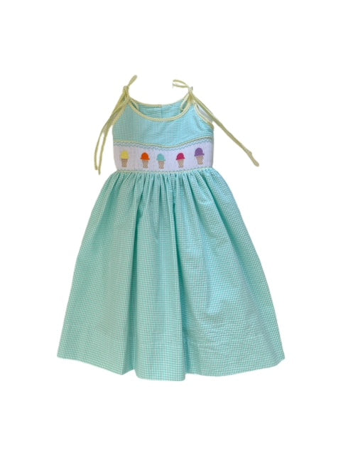Lulu Bebe Helen Aqua Ice Cream Dress