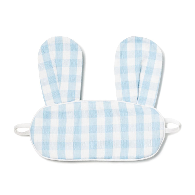 Petite Plume Children's Bunny Eye Mask in Blue & Pink