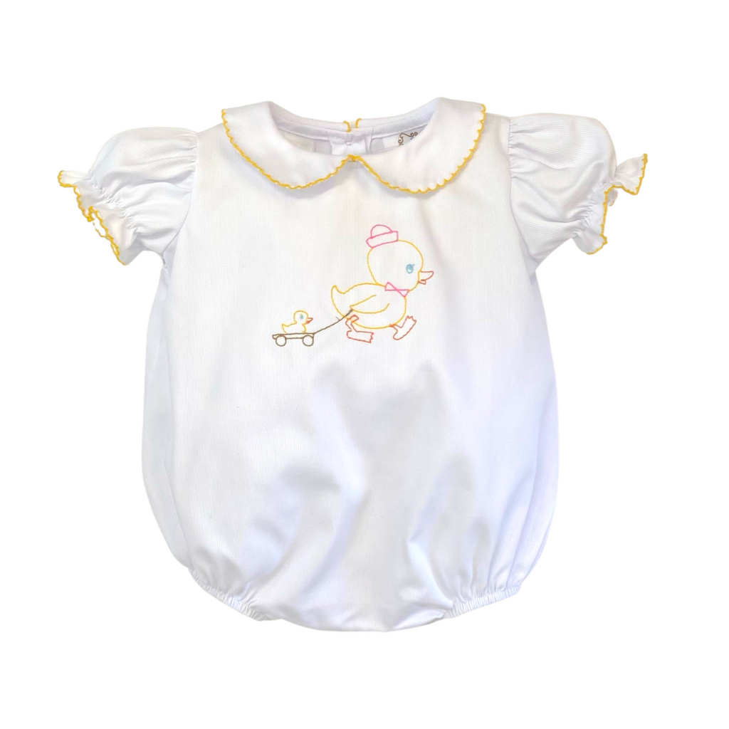 Lulu Bebe Rachel Duck Embroidered Bubble