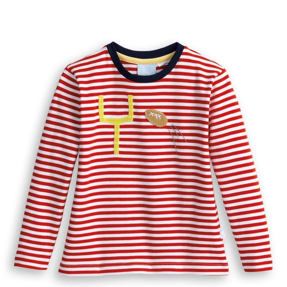 Bella Bliss Long Sleeve Striped Applique Tee