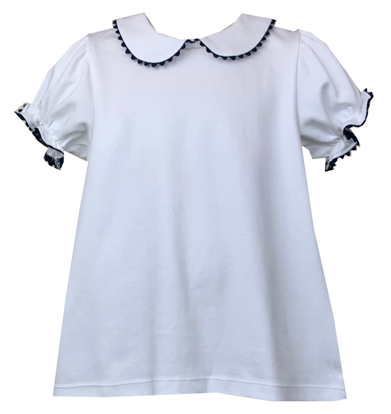 Lullaby Set Better Together Top White & Navy