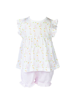 The Proper Peony Pink Bunny Bloomer Set