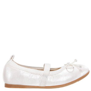 Nina Esther (Toddler) Ivory Pearlized Ballet Flat
