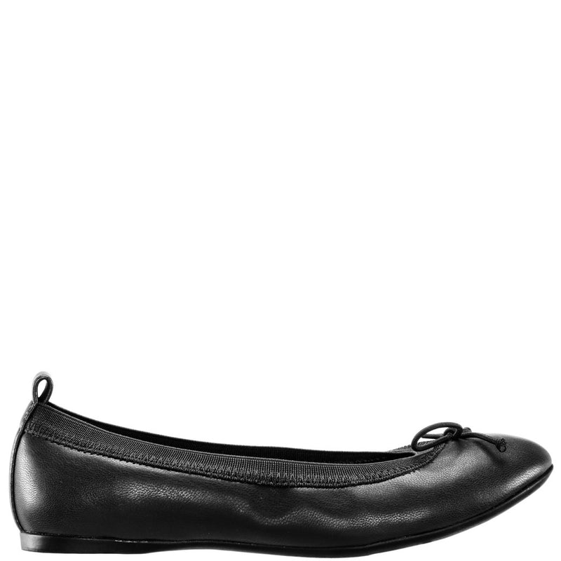 Nina Esther Black Smooth Ballet Flat