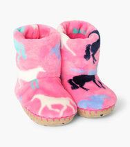 Hatley Pink Horse Slippers
