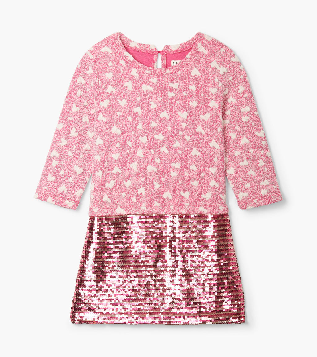 Quilted Hearts Sequin Dress