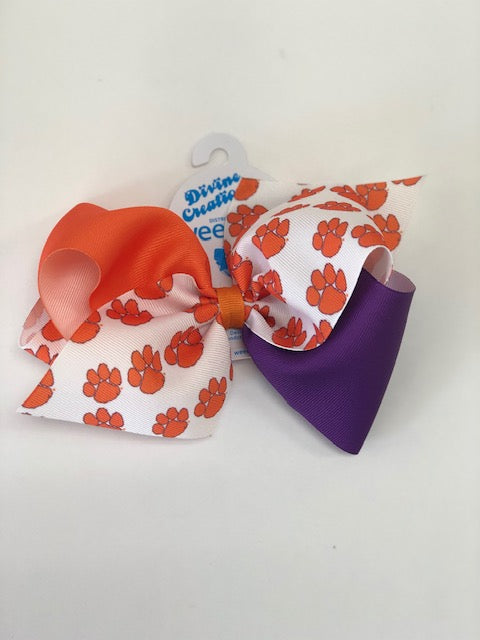 Wee Ones Bows King Collegiate Colorblock Bow