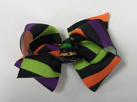 Wee Ones XS Striped Witch Bow
