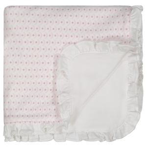 Lila & Hayes Crescent Pink Blanket Ruffle