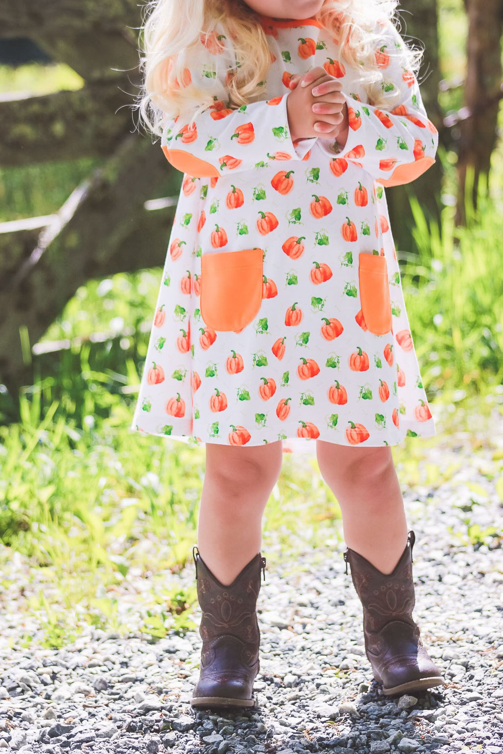 PRE-ORDER The Proper Peony Parker Pumpkin Dress