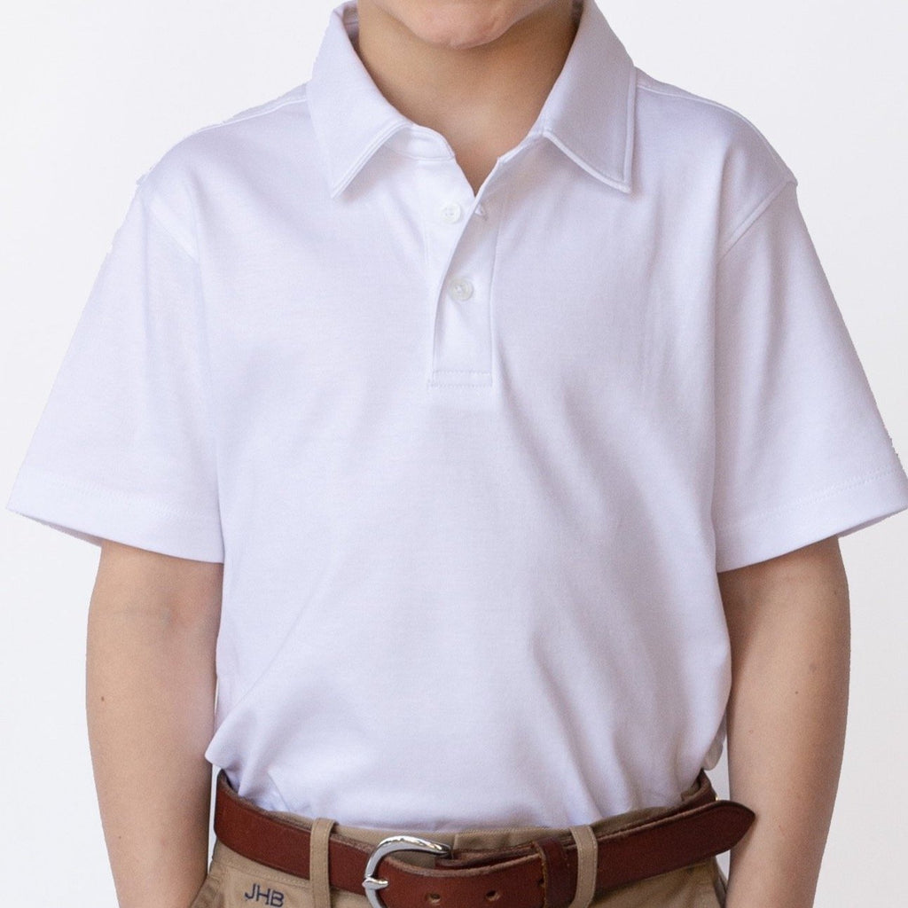 Brown Bowen & Company Wentworth White Polo