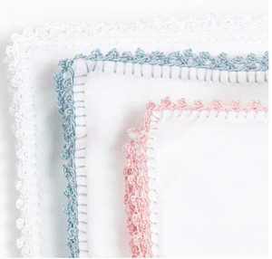 Pixie Lily White Jersey Blanket