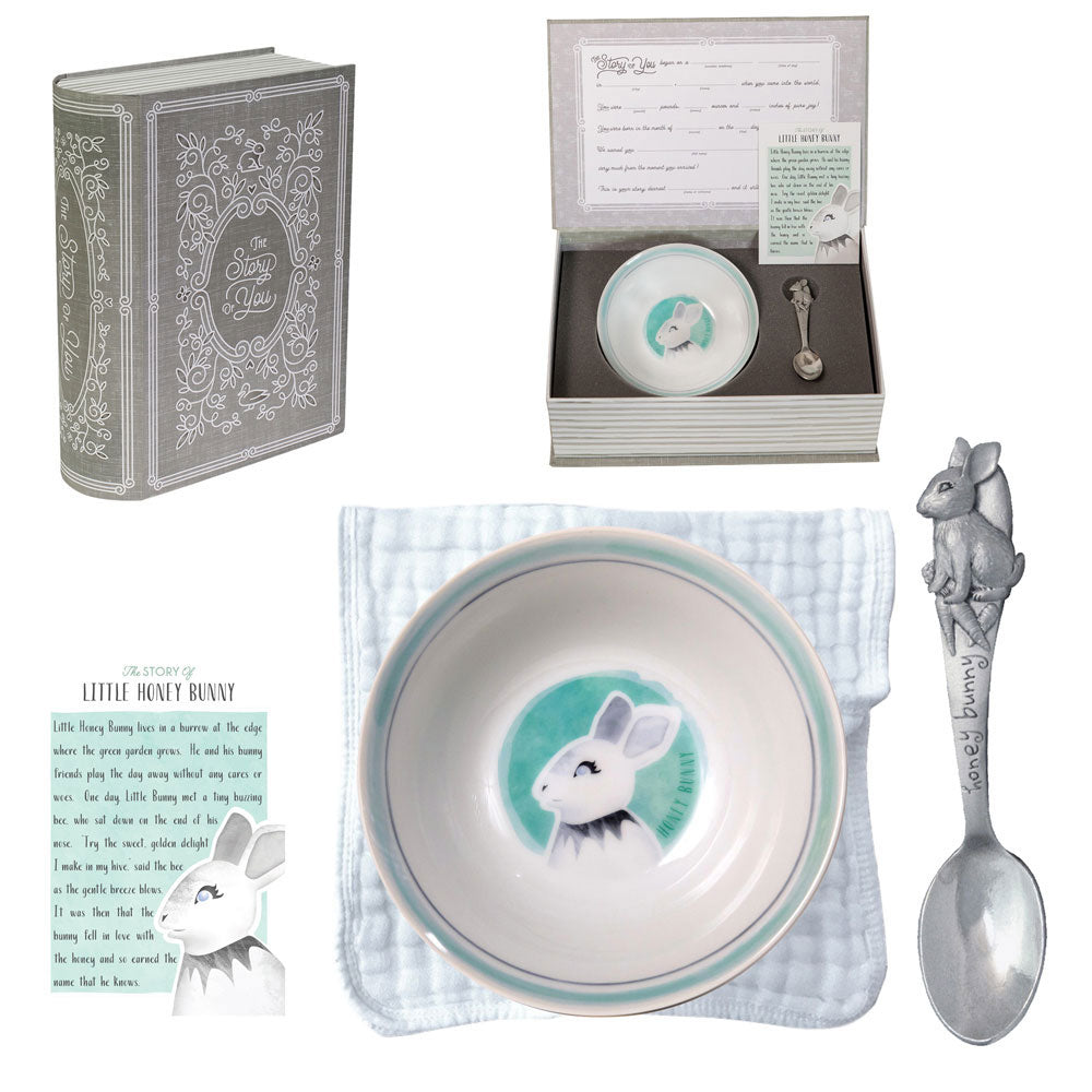 Salisbury Bunny Bowl & Spoon Set