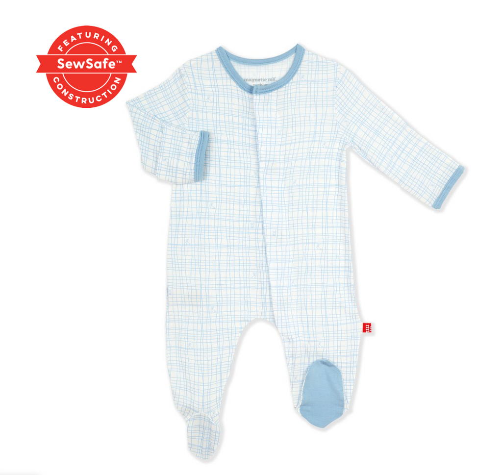 Magnetic Me Greenwich Plaid Footie