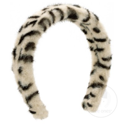 Wee Ones Bows Faux Cheetah Headband