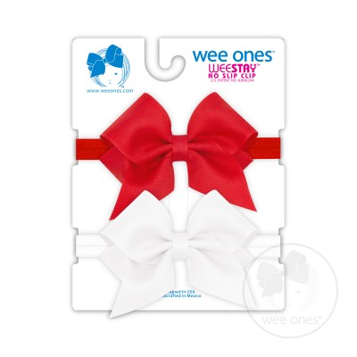 Wee Ones Bows XS Grosgrain Bow on Matching Headband (2pk)