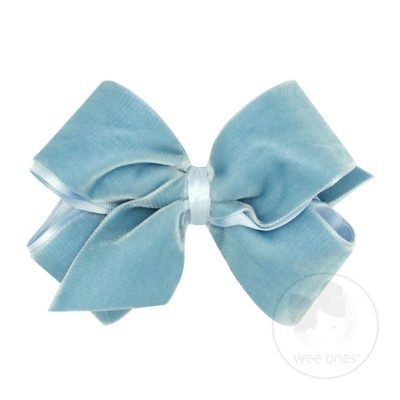Wee Ones Bows Small King Classic Velvet Bow
