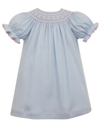 Light Blue Stripe Knit Bishop