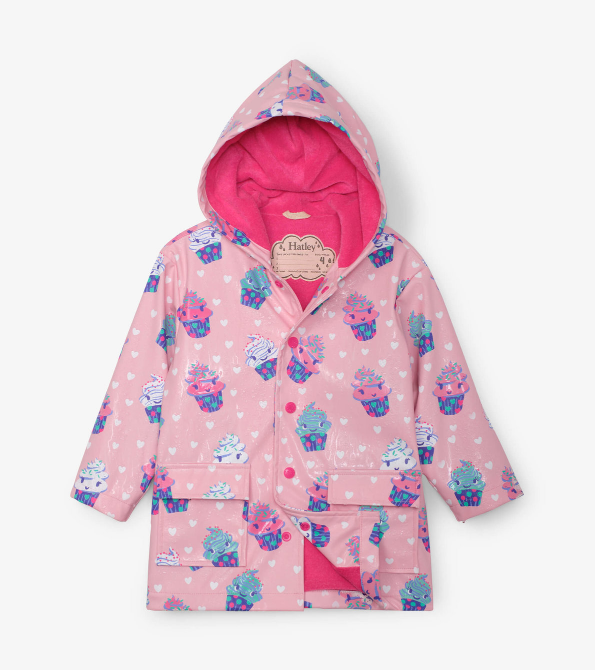 Hatley Dancing Cupcakes Color Changing Raincoat