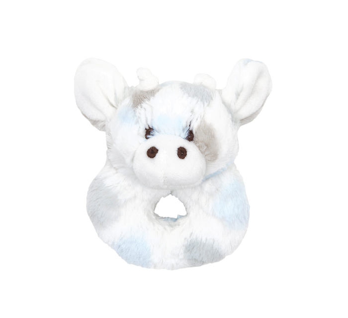 Little Giraffe Luxe Dot Plush Rattle (Multiple Colors)