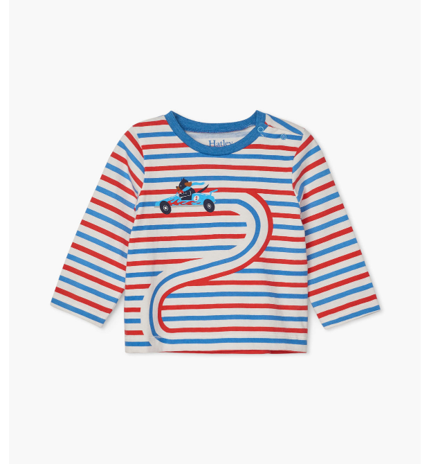 Hatley Race Car Doggy Long Sleeve Tee