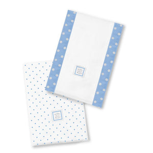 Swaddle Designs Baby Burpies (2pk) Blue Dots