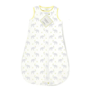 Swaddle Designs Pastel Yellow Elephant & Chickies Cotton zzZipMe Sack