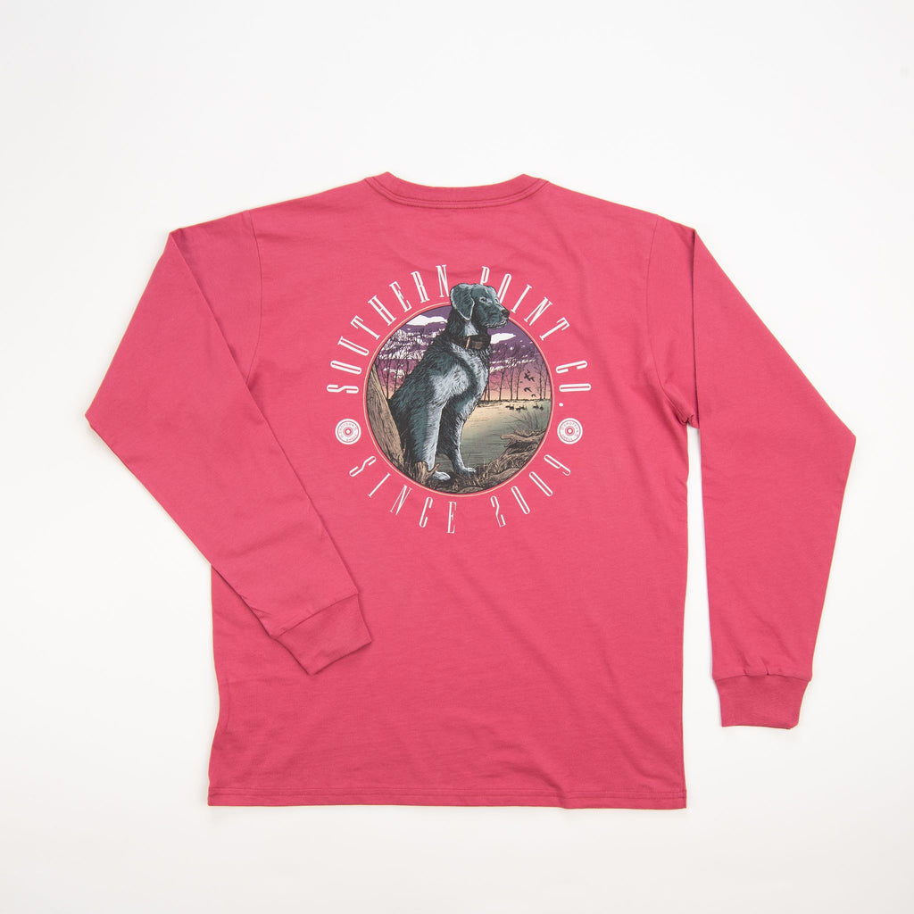 Southern Point Co Signature Tee Crimson