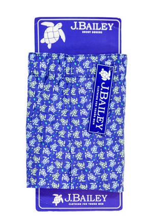 J. Bailey Brent Boxers Turtle Print