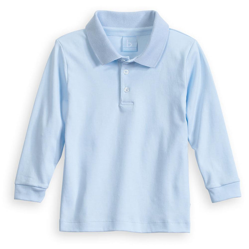Bella Bliss Blue Long Sleeve Polo Tee