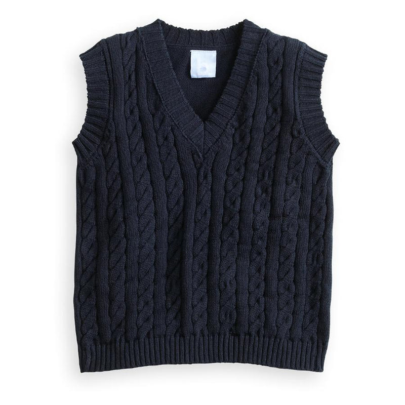 Bella Bliss Navy Cable Knit Vest