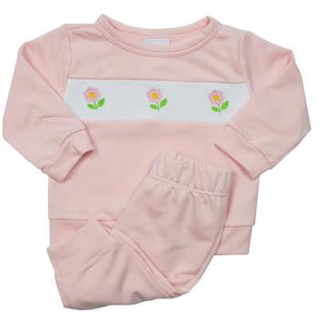 Lullaby Set Pink Flower Sweatsuit