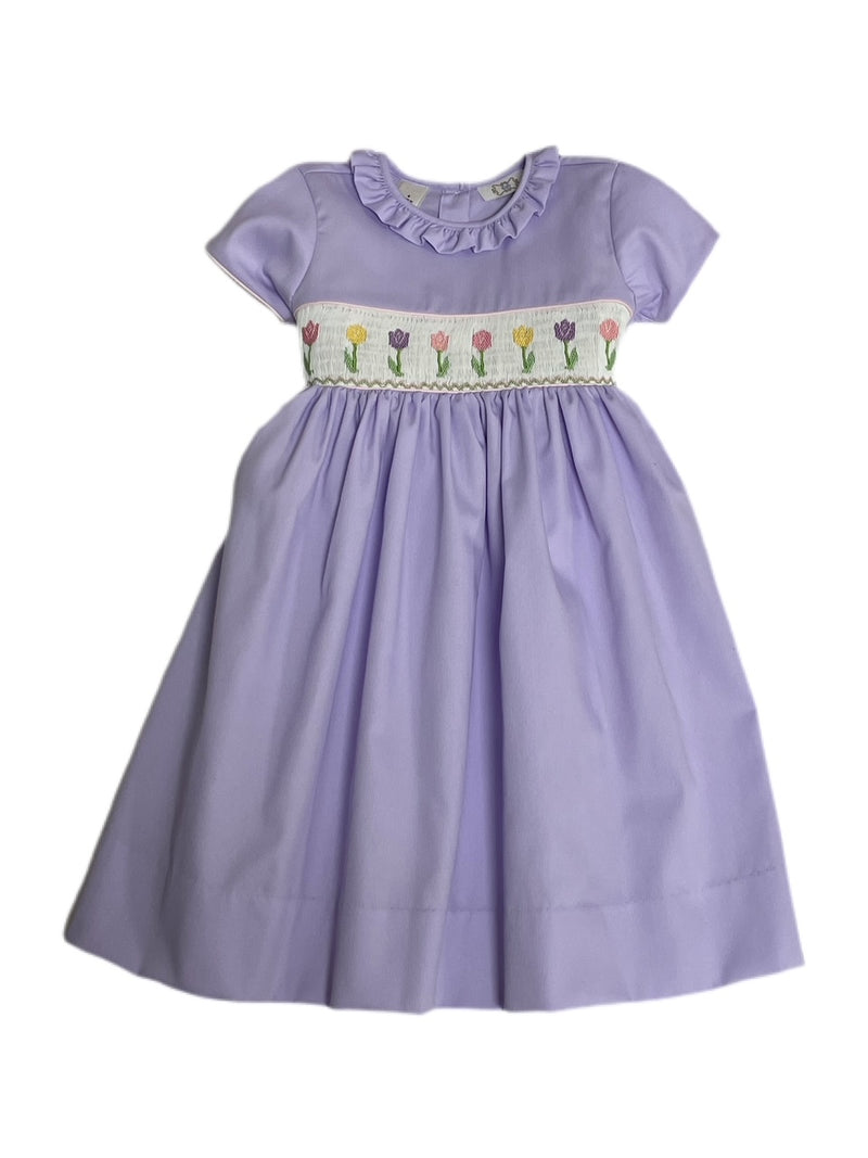 Lulu Bebe Rose Lavender Smocked Dress