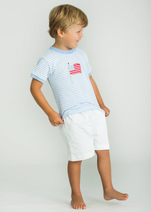 Little English Applique Flag Tee