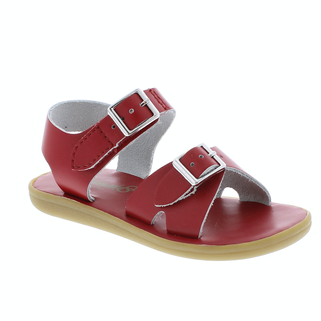 Footmates Tide Sandal in Apple Red