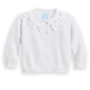 Bella Bliss White Bow Cardigan