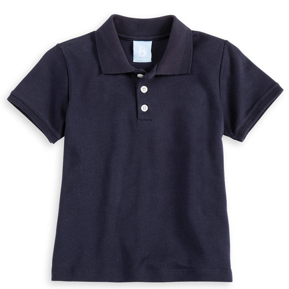 Bella Bliss Navy Pima Polo